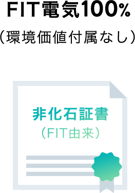 FIT電気100%(環境価値付属なし)